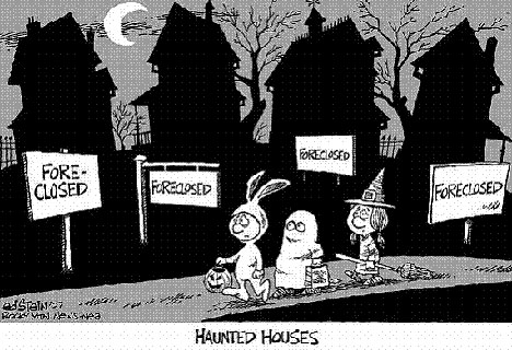 Haunted foreclosed houses